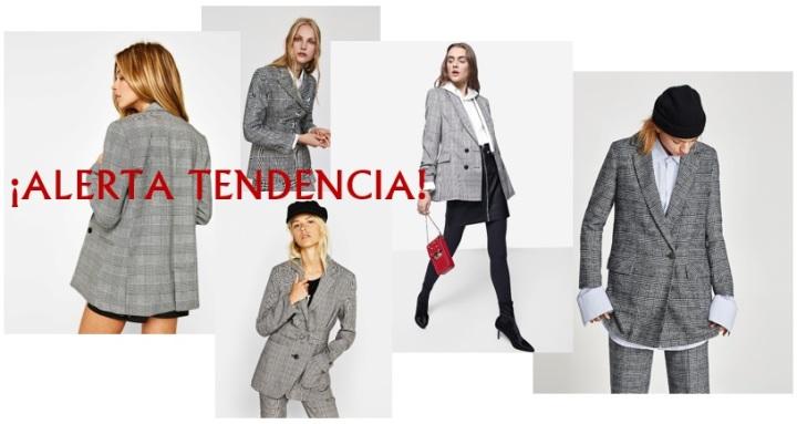 """La tendencia """"viral"""" del otoño: blazer gris concuadros."""